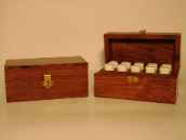 DARK WOOD ESSENTIAL OIL BOX (FILLED WITH 10 ESSENTIAL OILS)